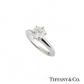Tiffany & Co. Platinum Diamond Setting Ring 1.23ct F/VS2 XXX